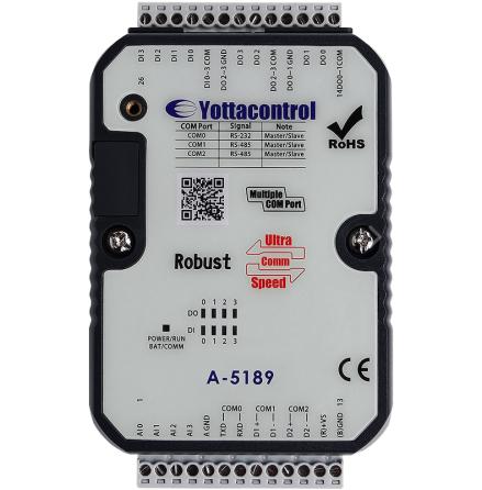 PLC med 4DI/4AI, 4 transistorutgångar, LCD display, 10-30VDC