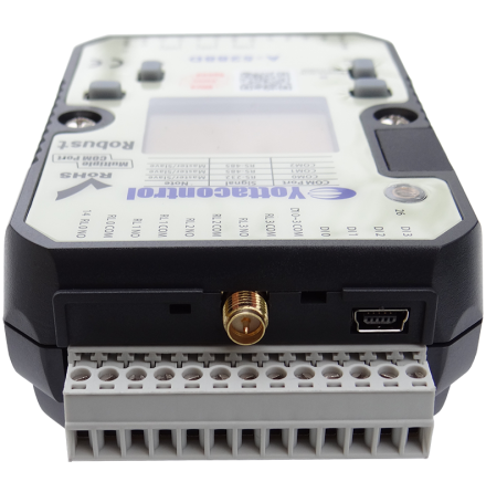 PLC med 4DI/4AI, 4 reläutgångar, LCD display, 10-30VDC