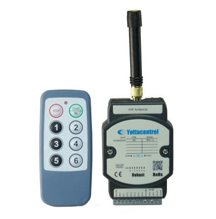 PLC radiostyrd expansionsmodul med fjärrkontroll, 6 utgångar