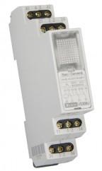 Relä 12-240VAC/DC, grön lampa, 3 växlande kontakter 8A, 1 modul