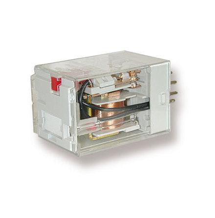 Relä TRP 6932-12V AC med mekanisk indikering och testknapp