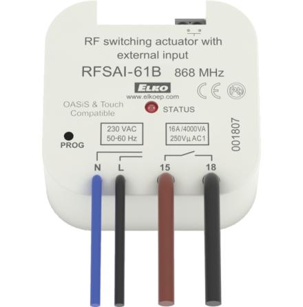 RFSAI-61B/230V,  mottagare, kontrollbrytare, extern ingång