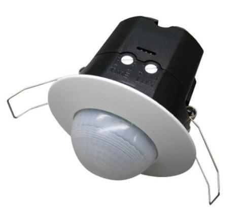 """Rörelsevakt """"SPOTLIGHT"""" för innertak, avk 360 gr, 230VAC"""