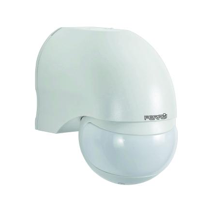 Rörelsevakt IP44, avkänning 180 gr, svängbar 170 gr, 230VAC