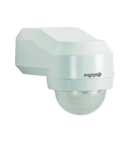 Rörelsevakt IP55, avkänning 240 gr, svängbar 180 gr, 230VAC