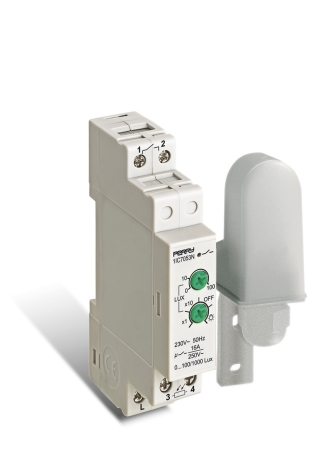 Skymningsrelä 7053N, 1 modul, separat givare, 230VAC