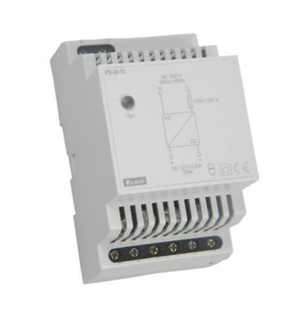 Spänningsaggregat, 1.25A, 12-24VDC, 3 moduler