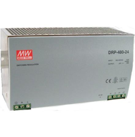 Spänningsaggregat switchat, 180-264VAC/24VDC, 20A