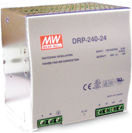 Spänningsaggregat switchat, 230VAC/24VVDC, 0-10 A
