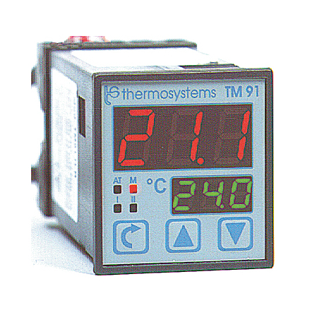Temperaturregulator, 2 displayer, 230VAC