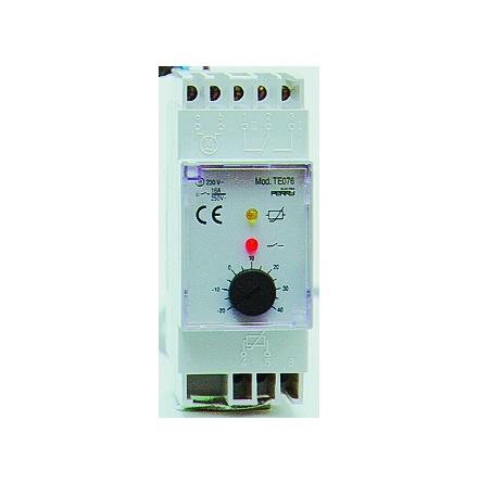 Termostat, +40 - +100C, 1-polig växlande kontakt, 230VAC