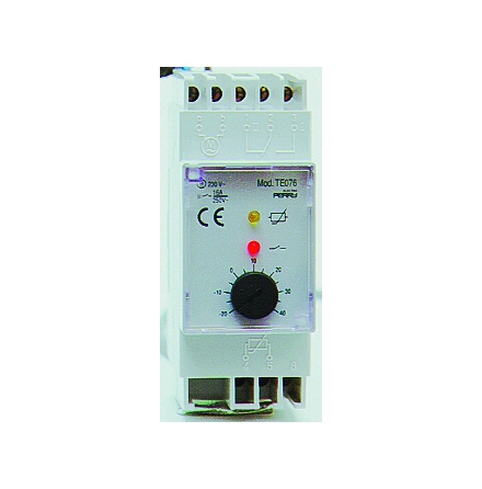 Termostat, -30 - +30C, 1-polig växlande kontakt, 230VAC