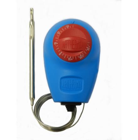 Termostat kapillär, 0...90C, kapslad, växlande kontakt 15A