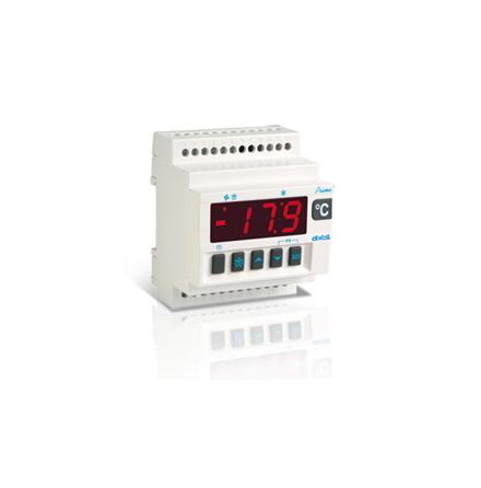 Termostat frys, med fläktkontroll, RS-485, PTC, DIN-montage