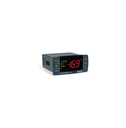 Termostat luftkonditiering, dubbel display, 5 utgångar, 12VAC/DC
