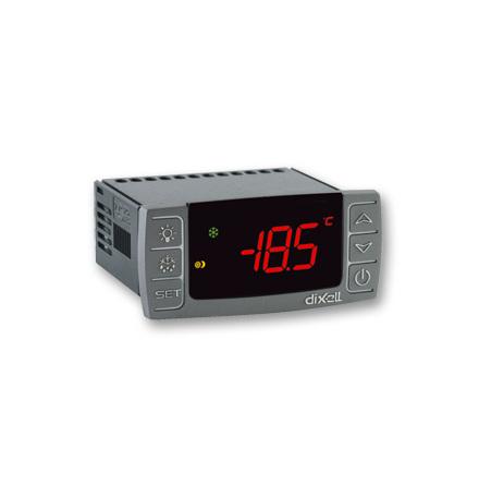 Termostat med stoppavfrostning, 8A, HOT KEY, larmknapp, 230VAC