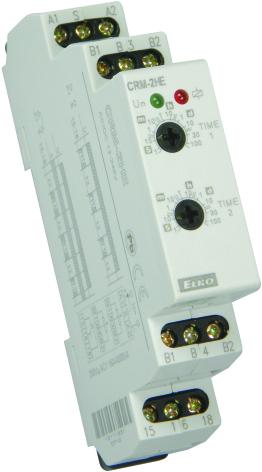 Tidrelä CRM-2HE paus-gång, med fjärrpotentiometer, 16A