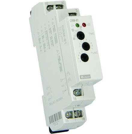 Tidrelä CRM-61, multifunktion, 1 modul, 24-240VAC och 24VDC