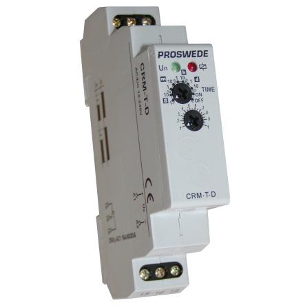 Tidrelä CRM-T-D, tillslagsfördröjt, 1 modul, 12-240VAC/DC