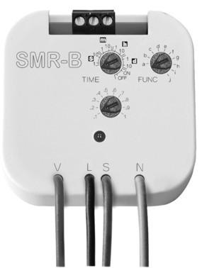Tidrelä SMR-B, 4-ledare, 10 funktioner, reläutgång 16A