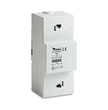 Trafo för DIN-montage, 30VA, 230/12-24VAC, 3 moduler