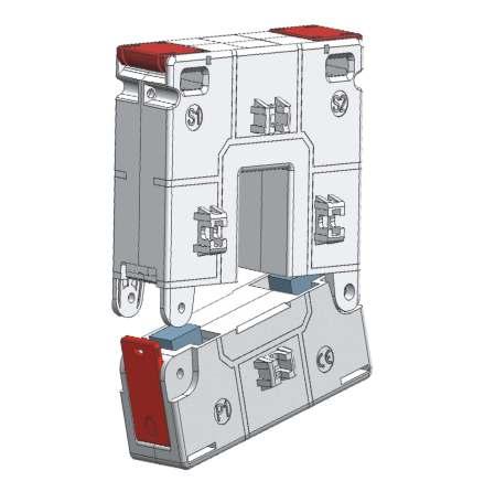 Trafo ström, delbar, 300/5 klass 1, 2,5VA, 82x52mm