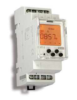 Års-/veckour digitalt, 12-240VAC/DC, 2 kanaler, 2 moduler