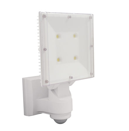 LED-strålkastare med rörelsevakt 4 LED, 4000 lumen, reläutgång