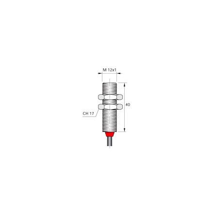 Magnetbrytare M12, NO+NC, 2m kabel