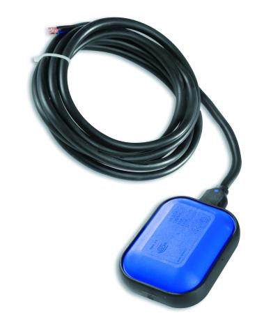 Paket 3 st nivåvippor PVC, IP68, 10A, 5m kabel, för klart vatten