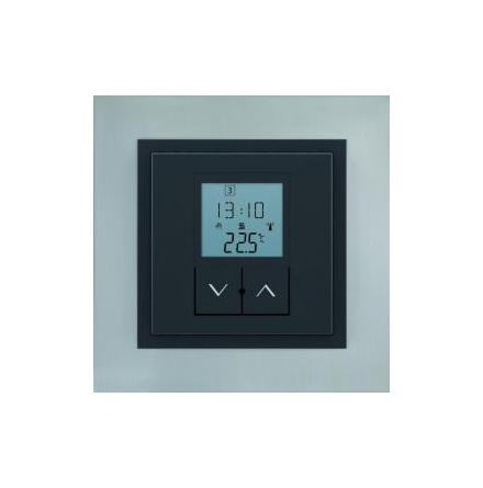 RFTC-50/G, temperaturregulator med inbyggd givare och veckour, vit