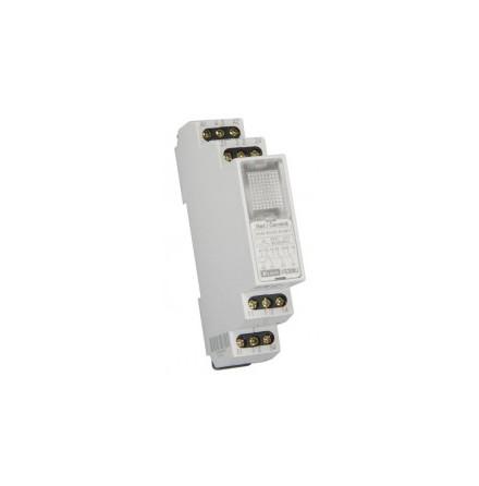 Relä 12-240VAC/DC, grön lampa, 3 växlande kontakter 8A, 1 modul 5 st