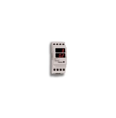 Ampere-/voltmeter digital, 3-siffrig, 2 moduler, 230VAC