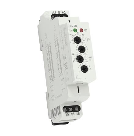 Tidrelä CRM-2H paus-gång, 1-polig, 1 modul, 12-240VAC/DC