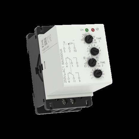 Tidrelä CRM-2H-P paus-gång, plug-in, 12-240VAC/DC