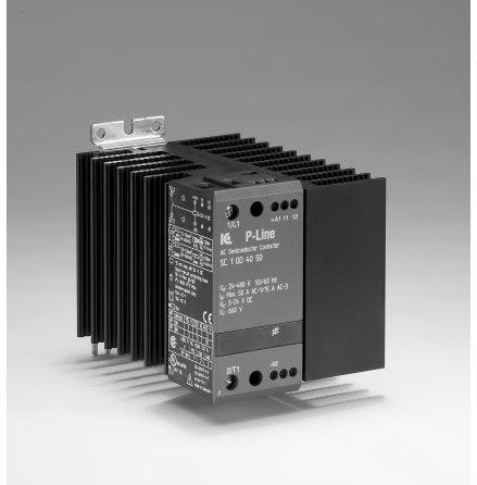 STATISK KONTAKTOR 24-480VAC, 5-24VDC 20A, 45 MM