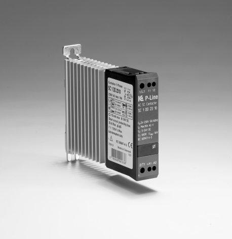 Statisk kontaktor 24-230VAC/DC, 15 A, 1-fas