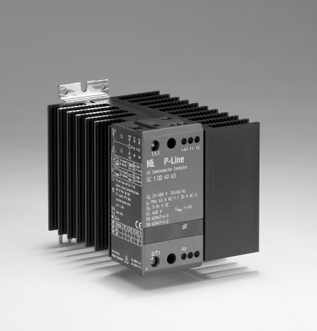 Statisk kontaktor 24-230VAC/DC, 20 A, 3-fas