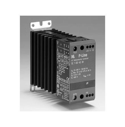 Statisk kontaktor 12-240VAC, 10A, 3-fas, styrspänning 5-24VDC