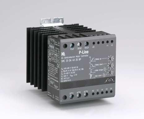 Mjukstart/stopp 7,5 kW, 400 VAC, 15A