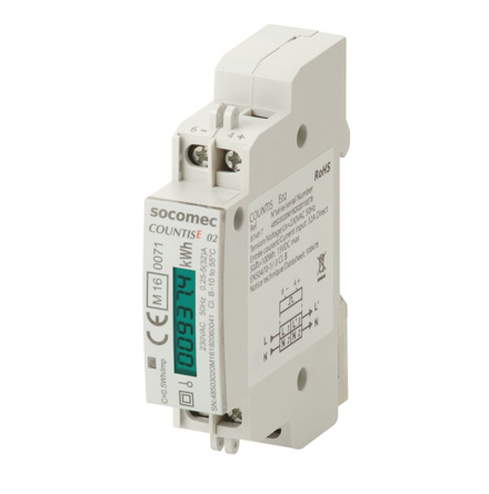 kWh mätare, MID, digital  1 modul, 1 fas, klass 1, 32A, puls