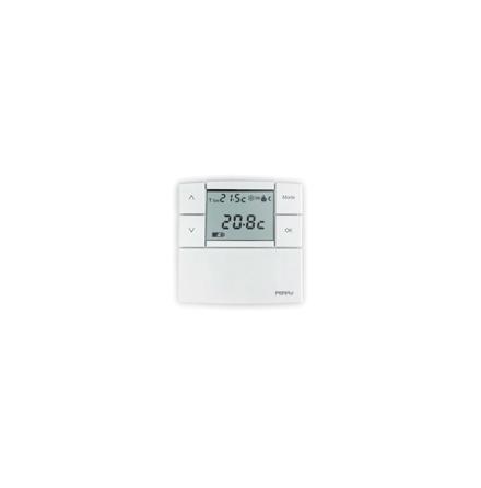 TERMOSTAT RUM, BATTERI 3 V, +5-+37,7 C SLUT. KONT. 5A 250 V
