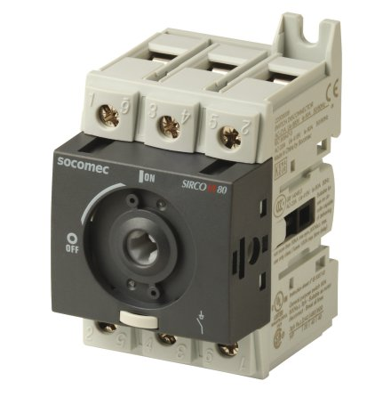 Lastbrytare 3x100A, DIN-skenemontage