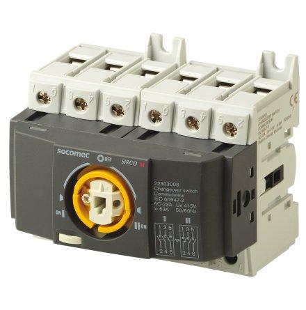 Reservkraftsomkopplare för DIN-skena, Changeover 3x63A