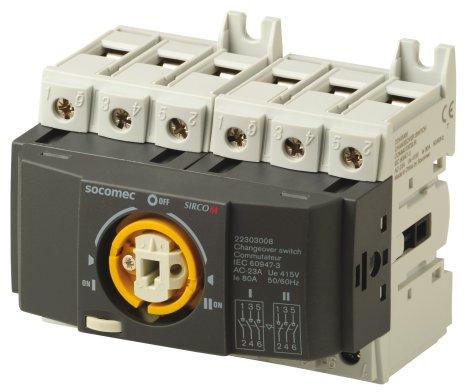 Reservkraftsomkopplare för DIN-skena, Changeover 3x100A