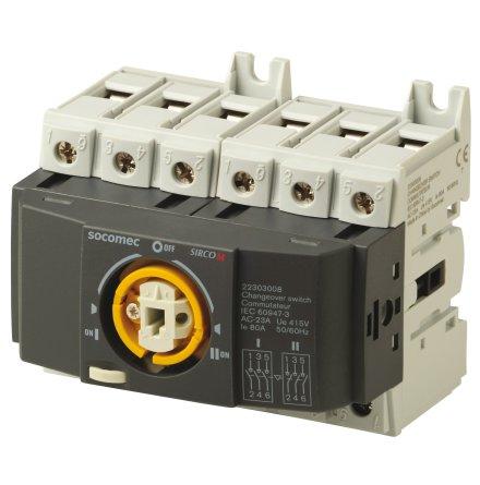 Reservkraftsomkopplare för DIN-skena, Changeover 3x80A