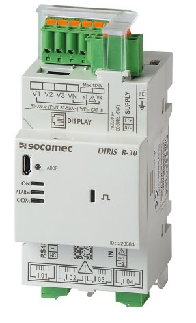 Multifunction meter,  Modbus communication. DIRIS B-30 RS485