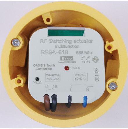 RFSA-61B,  mottagare, kontrollbrytare, 1 utgång, 6 funktioner, 230VAC