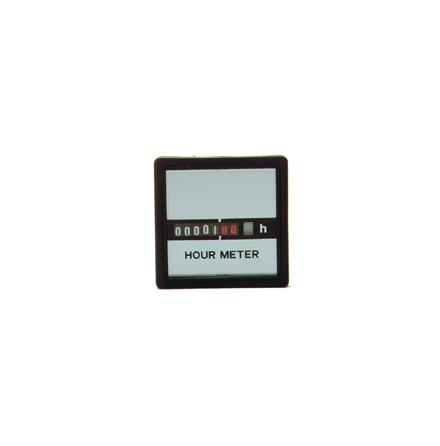 Drifttidmätare 230VAC, 55x55 mm
