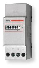 Drifttidmätare, din-montage, 2 moduler, 230VAC